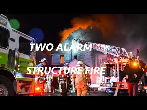 Multiple alarm house fire - West Hazleton, PA - 01/12/2019