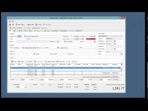Demo of Spire Business Management Software