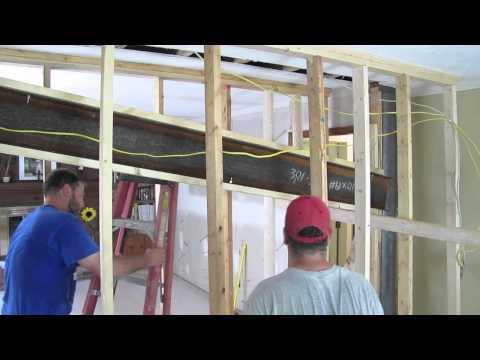 Installing Load Bearing Steel Beam