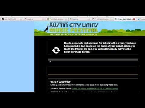 Buying Austin City Limits 2011 Early Bird Tickets - FAIL!