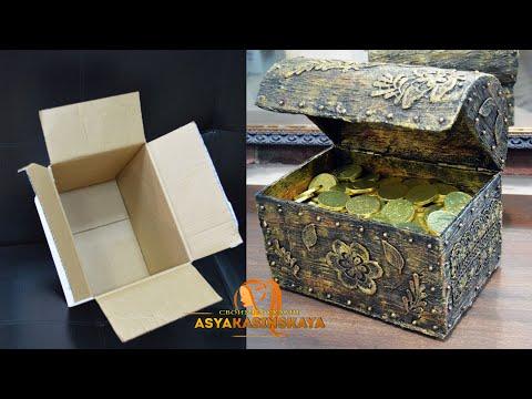 Сундук пиратский своими руками из коробки фото пошагово