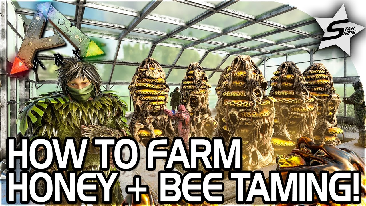 HOW TO FARM HONEY + TAMING THE GIANT QUEEN BEE in ARK Survival ... Bee Houses Designs Html on beehive plans and designs, box house designs, food designs, bird designs, luxury pool house designs, signs designs, cat house designs,