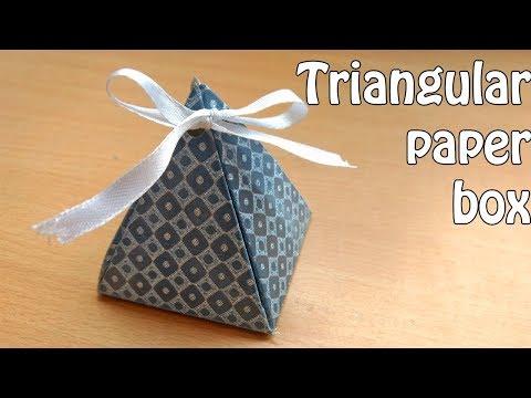How to make an easy Triangular box | CHRISTMAS gift box
