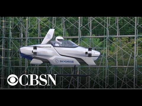 The newest prototype of a flying car