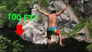 JUMPING OFF A 100 FOOT CLIFF!!