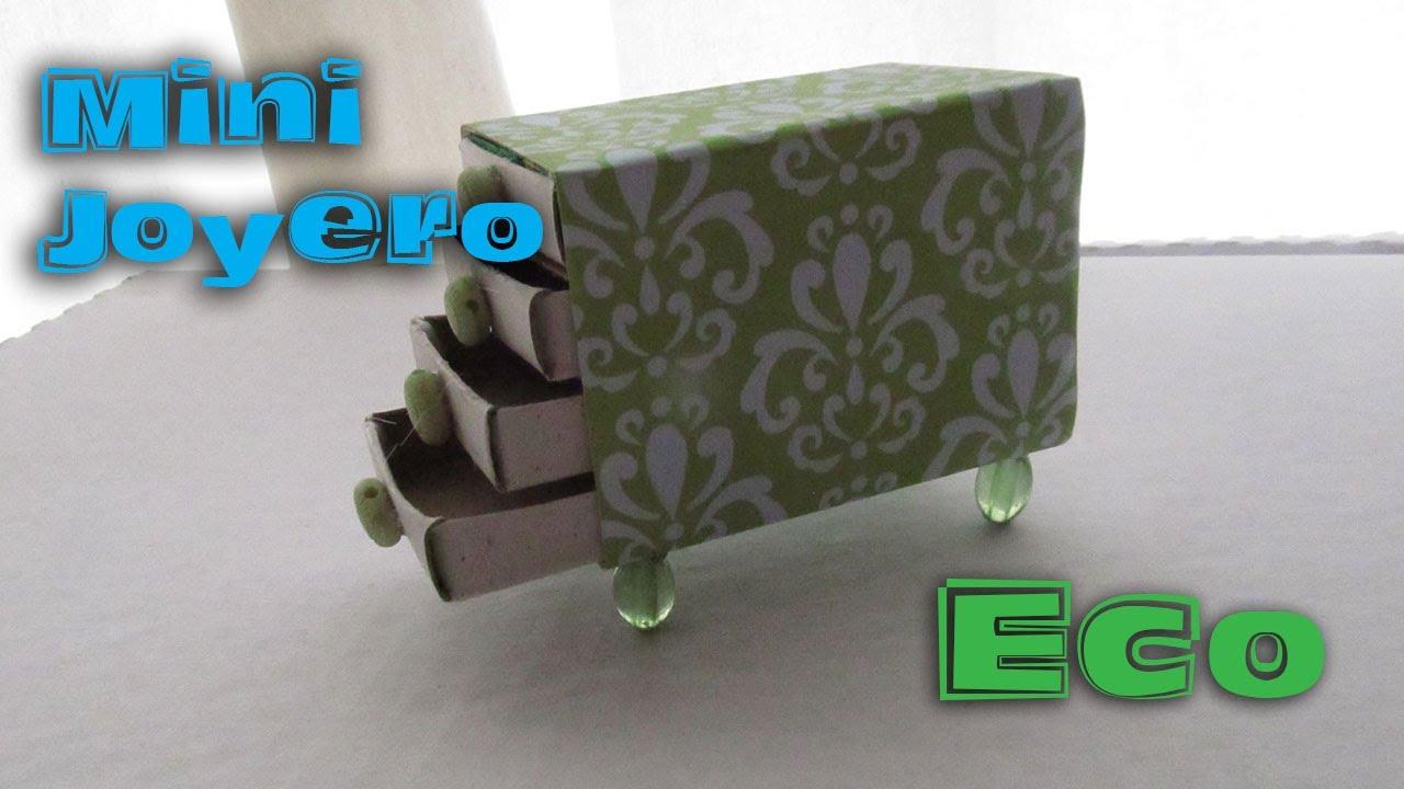 Mini joyero reciclado con cajas de cerillos floritere - Cajas para manualidades ...
