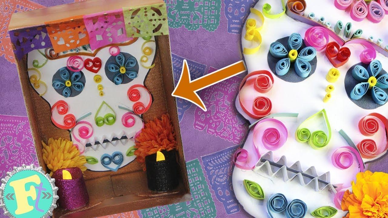 メキシカンな骸骨カラベラDIY♡カラフルでポップな工作!作り方