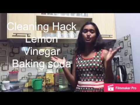 Cleaning Hack - Lemon, Baking Soda & Vinegar