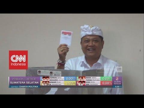 Cagub Bali Rai Mantra Mencoblos Di TPS 8 Banjar Bengkel Bali | Pilkada Bali