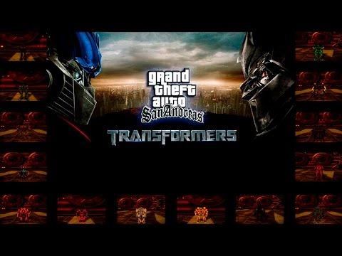 Обзор GTA San Andreas Transformers Mod Обновлённая Версия V.2