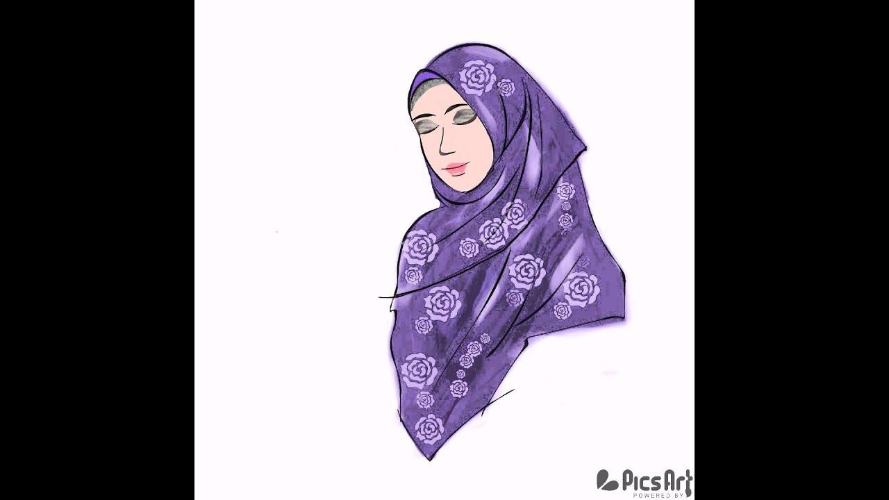 Gambar Kartun Muslimah Jilbab Syar i Kolek Gambar
