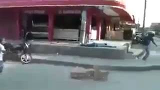 Funny Gun Shooting In Local Market - Whatsapp