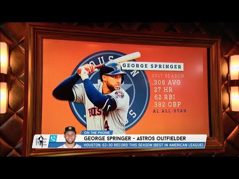 Astros' All-Star OF George Springer Dials in to The Rich Eisen Show | Full Interview | 7/17/17
