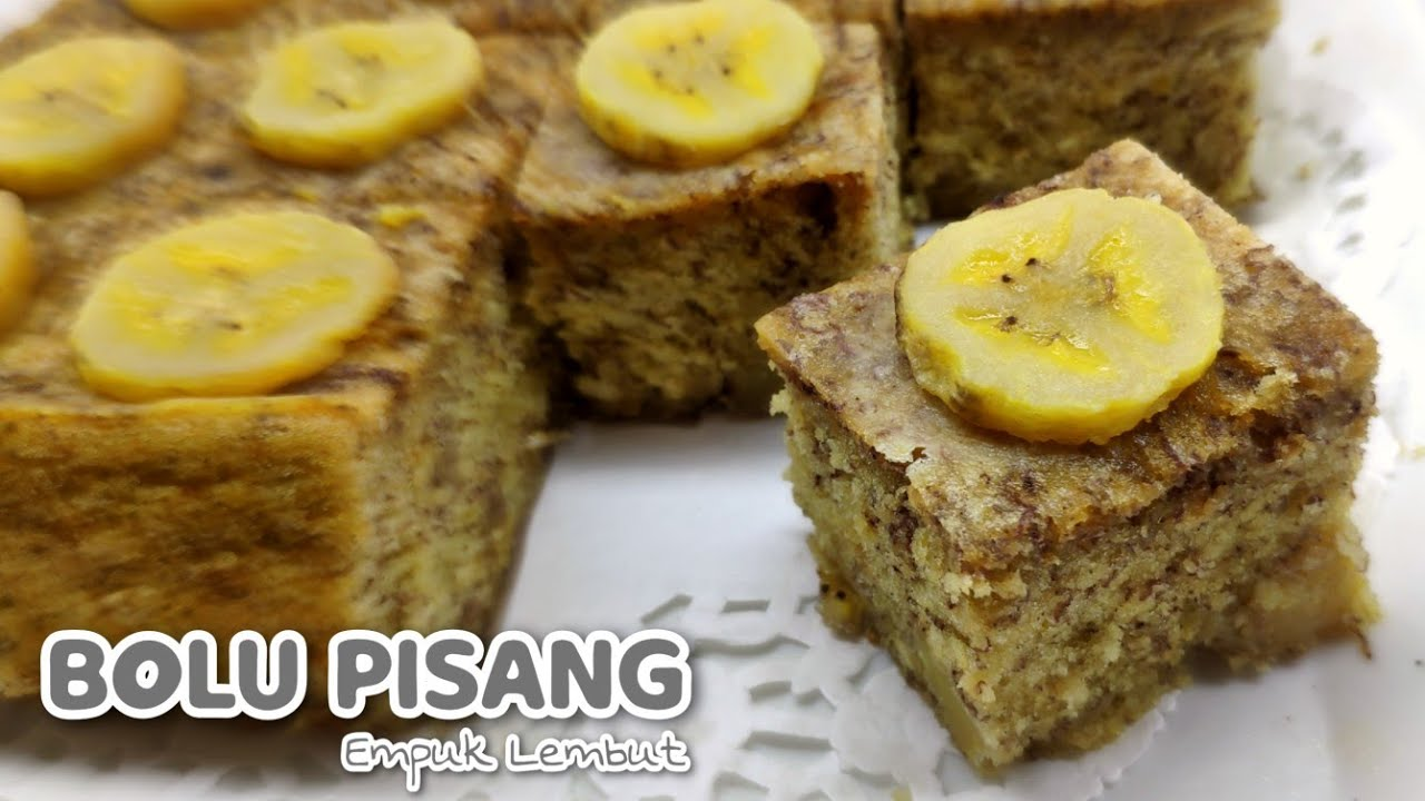 Resep Bolu Pisang Kukus Super Empuk Dan Lembut | Super Soft Banana Sponge Recipe