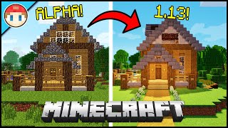 Building the Same Minecraft House in Alpha and Now!