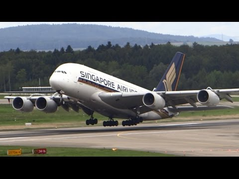 Plane Spotting - In the Heart of Europe / Zurich Airport One Hour Spotting Video
