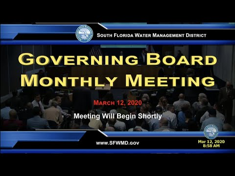 Governing Board Monthly Meeting - March 12, 2020