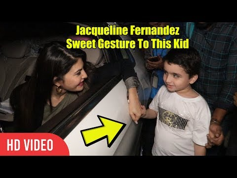 Jacqueline Fernandez Sweet Gesture To This Kid | Mumbai Airport