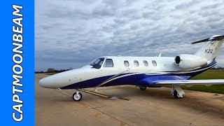 The Citation M2 in Heavy Rain Flying to Tampa, Fl