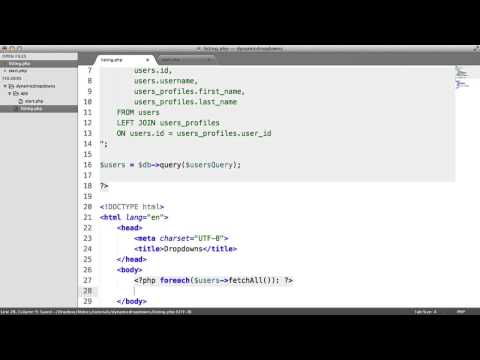 Populating Dropdowns In PHP (1/2)