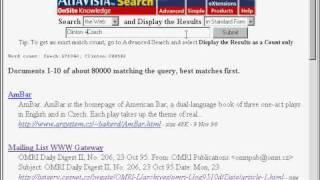 Asking AltaVista in 1996