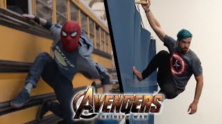 Stunts from Avengers Infinity War In Real Life (Marvel, Parkour)