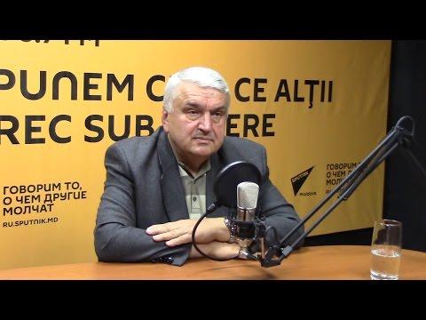 Serafim Urechean în studioul radio Sputnik Moldova