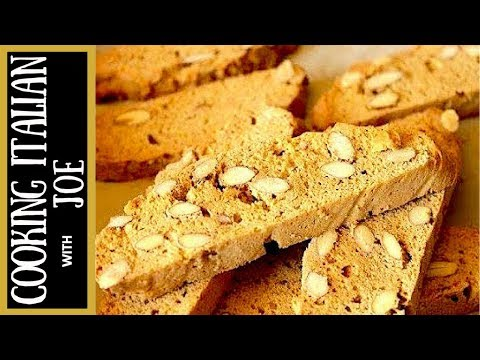 Best Homemade Italian Almond Biscotti Cookies Cooking Italian with Joe - YouTube