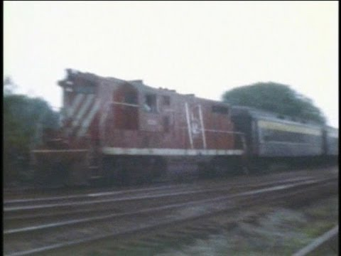 CNJ GP40P's & GP7's in action. Plus, NJT RDC's, PC E8 E-7 on commuter runs in 1977...