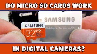 Using Micro SD Card in Digital Cameras  - Samsung EVO 32GB