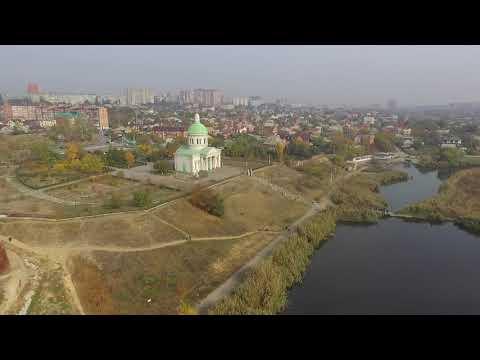 Полеты  над Армянской церковью Сурб Хач  в Ростове-на-Дону