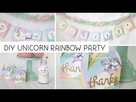 DIY Unicorn Rainbow Party Ideas With Lawn Fawn