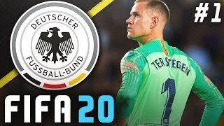 FIFA 20 Germany Career Mode EP1 UEFA EURO 2020 Ter Stegen Or Neuer