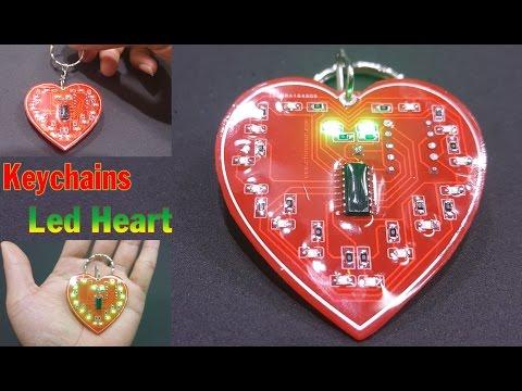 How to make Keychains Led Heart