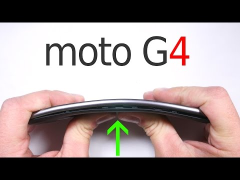 Moto G4 Durability Test - BEND TEST - Scratch test BURN TEST