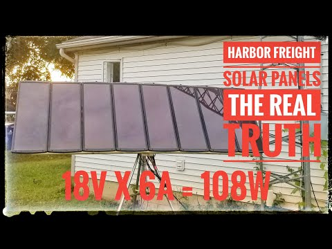 Harbor Freight 100 watt solar kit - The Real Truth