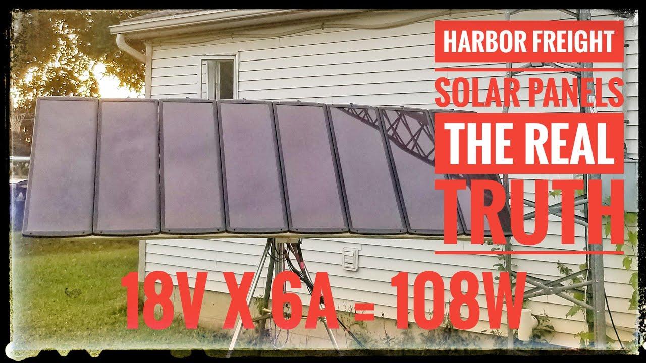 Harbor Freight 100 Watt Solar Kit The Real Truth Youtube