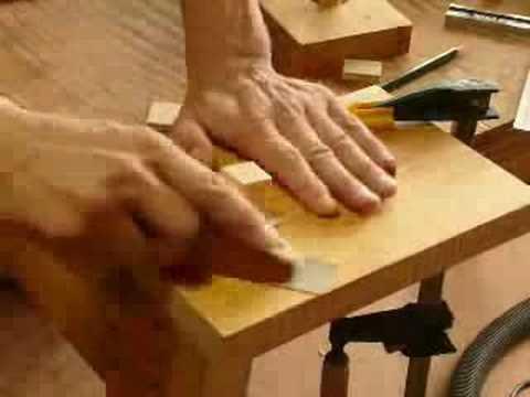 簡単ホゾ作り I easily make a tenon