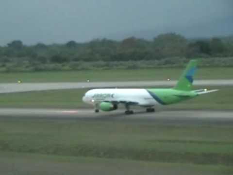 Arrow air 757 Freighter Landing, Tower Controller MHLM, Honduras