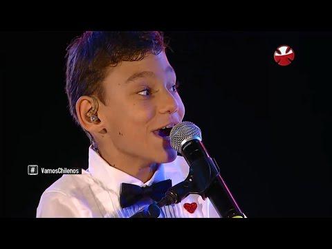 Adrián Martín Vega Cantando en el Estadio Nacional Teletón Chile 2015 HD 720p
