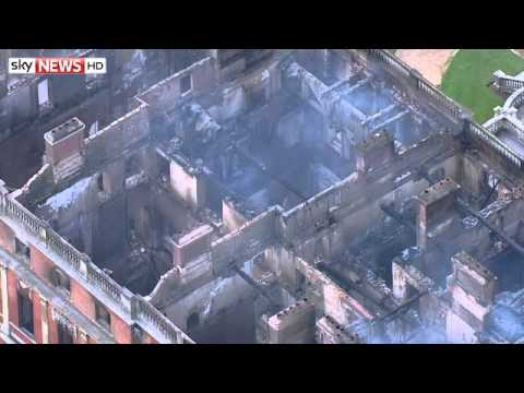 Aerial Footage Shows Extent of Clandon Park Fire Damage