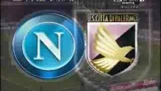 Napoli-palermo 1-0 gol di hamsik e traversa di sosa