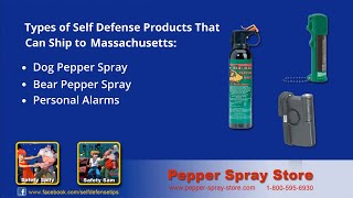 Massachusetts State Pepper Spray Laws - What's Legal?
