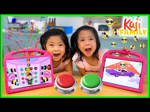 iPad Games like 100 Buttons and Pop It Games with Emma and Kate!