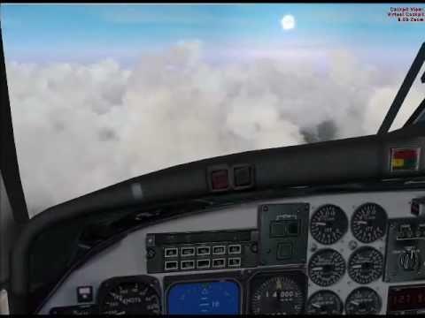 LIFE GUARD FLIGHT B1900 - APPROACH & LANDING