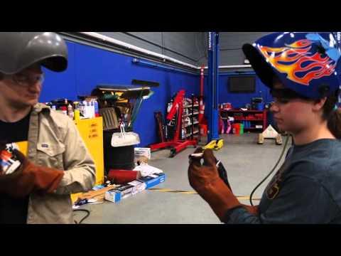 Captain's Blog 4 26 2016 Katie Welding and Forklift Batteries