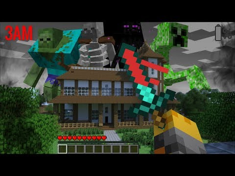 SCARY MUTANT CREATURES APPEAR AT 3AM IN MY HOUSE IN MINECRAFT !! Minecraft Mods