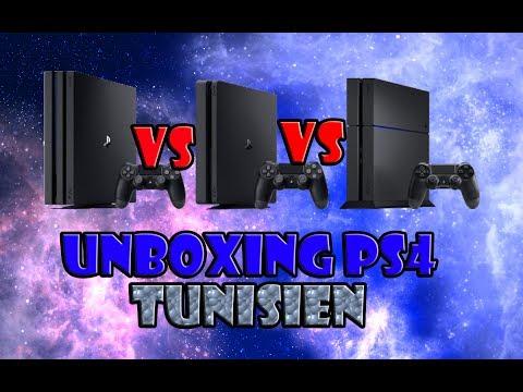 UNBOXING PS4 SLIM [TUNISIEN] PS4 VS PS4 SLIM VS PS4 PRO
