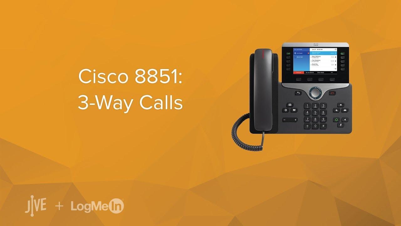 Cisco 8851 -- How do I start a 3-way call?