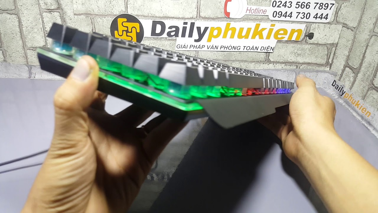 Review bàn phím lightning pr 8900z phím giả như thật tại dailyphukien